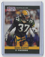 1990 PACKERS Mark Murphy signed card AUTO Pro Set #113 Autographed Green Bay