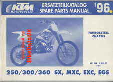 KTM 250 300 360 SX MXC EXC EGS (1996) Spare Parts Manual CHASSIS Factory BJ58