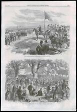 1869 ANTIQUE PRINT-Canada Nouvelle-Écosse Halifax Picnic Prince Arthur (207)