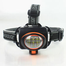 Linterna Frontal de Cabeza tipo MINERO 6W 6 LED 180 grados inclinacion regulable