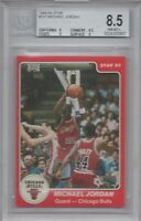 MICHAEL JORDAN BGS 8.5 1984-85 STAR #101 ROOKIE CARD WITH TWO 9 SUBS!