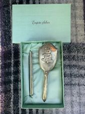 EMPIRE sterling silver baby brush and comb set in original box