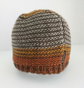 Columbia~Titanium~Beanie~Wool Blend~Fleece Lined~Winter~Hat~Knit~Brown~Orange