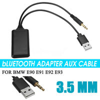 Portable 12V Car Radio bluetooth USB Audio Adapter Aux Cable For BMW E90 E91 E92