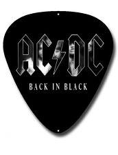 AC/DC Plectrum en forma de pared de metal señal 290MM X 390MM, Música