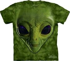 The Mountain Alien Face T Shirt Tee Außerirdischer Grün S - 3XL  #3218 558