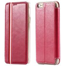 "Luxus RWS Flip Cover Hülle für iPhone 6 / 6S (4.7"" Zoll) Leder Case ROSA"