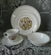 Vintage 5 Piece Lot Corelle by Corning Indian Summer Dinnerware Set Serving One