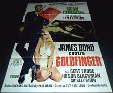 1964 Goldfinger ORIGINAL SPAIN POSTER 007 James Bond R78 Great Unique Artwork!