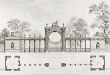 Robert & James Adam plan and elevation Print Gateway to Syon House, London