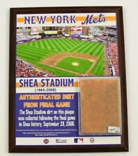 2008 New York Mets Shea Stadium Game Used Dirt Plaque From Final Game! MLB Worn