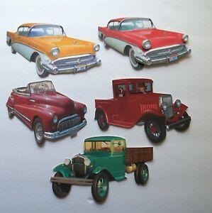 3D UPick  Vintage Cars Convertible Roadster Card Scrapbook Embellishment