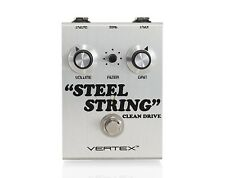 Vertex Steel String Clean Drive Guitar Effects Pedal True Bypass Stompbox Silver