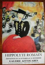 AFFICHE HIPPPOLYTE ROMAIN-GALERIE AITTOUARES- PARIS- 63/42 CM