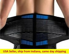 Neoprene DLX Belt  Dbl Pull Lumbar Lower Back Support Brace Pain Relief (S-4XL)