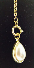"""Joan Rivers Collectible Faberge Egg with 2"""" Extender """"Faux Pearl Tear Drop"""""""