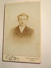 Recklinghausen & Herne - junger Mann im Anzug - Portrait / CDV