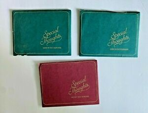 Lot Of 3 Vintage Avon Special Thoughts Bookmarks