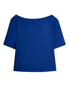 BNWT - Simply Be Bardot Jersey Top - UK Size 26 - Blue - Tags - New
