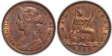 GREAT BRITAIN 1/2 PENNY 1862  KM# 748.2 UNC!!!!