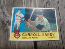 1960 Topps # 341 Carroll Hardy Cleveland Indians Baseball Card