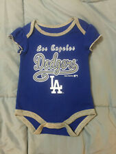 Los Angeles Dodgers Girls Baby Infant One Piece  Creeper Size 0-3 Months Blue