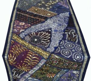 """33% OFF 40"""" VINTAGE DÉCOR HANDCRAFTED SARI TABLE RUNNER LINEN THROW TAPESTRY"""