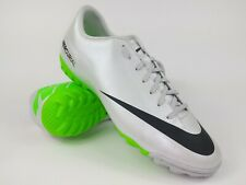 Nike Mens Rare Mercurial Victory Iv Turf Soccer Shoes 555615-003 White Size 10