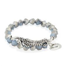 Alex and Ani Seahorse Wrap Bracelet Blue Bead Wire Silver Bangle New $48