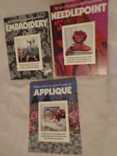 Needlepoint Embroidery Better Homes and Gardens Book Set Applique Craft Pattern