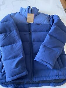 NWT $249 Patagonia Men's Bivy Down Jacket. Stone Blue/Wooly Blue - Large
