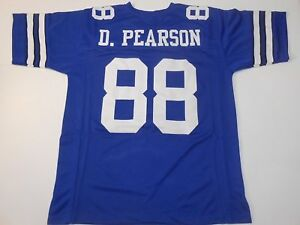 UNSIGNED CUSTOM Sewn Stitched Drew Pearson Blue Jersey - 3XL