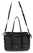 Burberry Abbey Quilted Nylon Diaper Tote Baby Bag Black Novacheck $850 Pre Owned