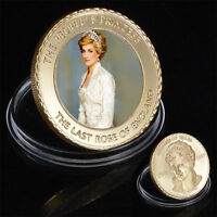 ●●●   RARE MEDAILLE PLAQUéE OR : LADY DIANA / LADY DI   ●●●
