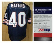 GALE SAYERS CHICAGO BEARS #40 AUTOGRAPHED XL JERSEY WITH CERTIFICATION PSA DNA