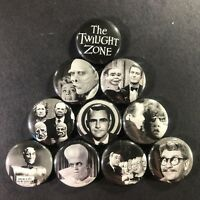 "The Twilight Zone 1"" Button Pin Set Classic Horror Scary Sci-Fi thriller show"