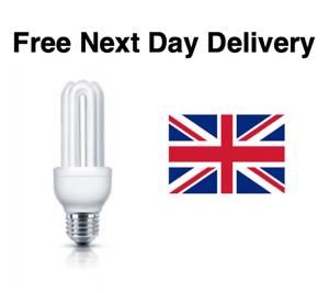 E27 5W EXTRA LONG LIFE Fluorescent Bulbs Warm White Light Energy Saving UK