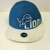DETROIT LIONS NFL Flat Bill Ball Hat Cap TEAM APPAREL L/XL Large/XLarge - NEW