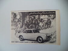 advertising Pubblicità 1962 FIAT 1500 S COUPE' PININFARINA