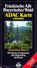 ADAC Karte, Fränkische Alb, Bayrischer Wald, 1992