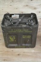 Metal Cartridge Case / Ammo Tin H60 Mk1 With Twist Lock Lid - 1956 VGC
