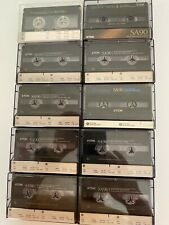 TDK SA90 HIGH BIAS CASSETTE TAPES.  VARIOUS VERSIONS. TAPES MADE IN USA