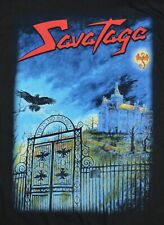 SAVATAGE ORIGINAL 2001 POETS AND MADMEN T Shirt ROCK NEW NOS Sz L Large