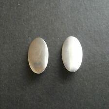 NE From Denmark Sterling Silver Modernist Oval Clip Earrings Niels Erik Danish