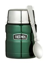 THERMOS S/Steel Vacuum Insulated Food Jar 470ml with Spoon RRP $39.99  Green