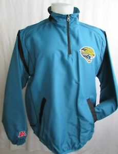 Jacksonville Jaguars Men's 1/4 Zip Teal Windbreaker Jacket L, 2XL NFL A4