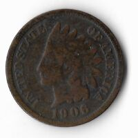 Rare Old Antique US 1906 Collectible Indian Head Penny Collection Coin Cent M15