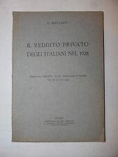 Economia Finanza, Meliadò: Reddito Privato degli italiani nel 1928 Metron 1932
