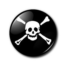 25mm Button Badge - Skull and Crossbones - Pirate Goth