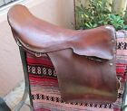 """English Riding Saddle MADE IN ENGLAND DISCRIMINATING RIDERS 19"""" Seat Brown VTG"""